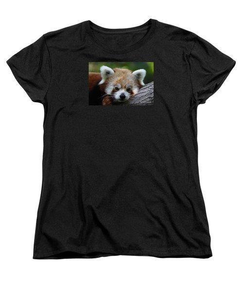 Women's T-Shirt (Standard Cut) featuring the photograph Fire Fox by Judy Whitton