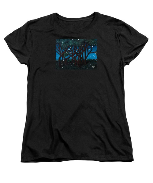 Fireflies Women's T-Shirt (Standard Cut) by Cheryl Bailey