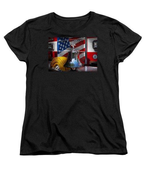 Fireman - Red Hot  Women's T-Shirt (Standard Cut) by Mike Savad