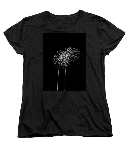 Firework Palm Trees Women's T-Shirt (Standard Cut) by Darryl Dalton