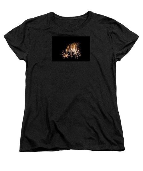 Women's T-Shirt (Standard Cut) featuring the photograph Fireworks 1 by Susan  McMenamin