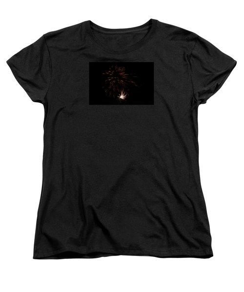 Women's T-Shirt (Standard Cut) featuring the photograph Fireworks 2 by Susan  McMenamin