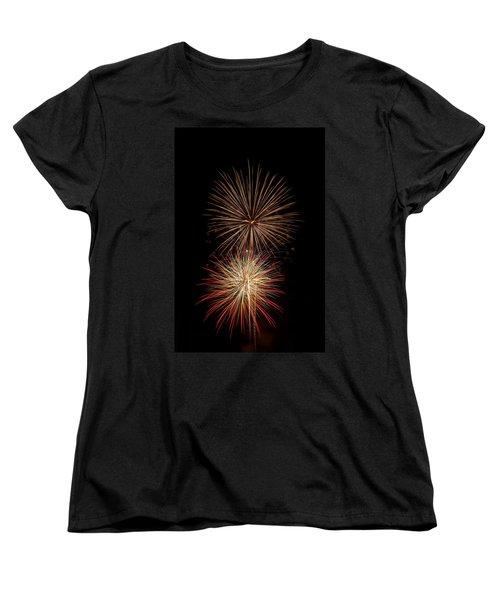 Fireworks Women's T-Shirt (Standard Cut) by Michael McGowan