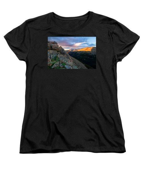 First Light On The Mountain Women's T-Shirt (Standard Cut) by Ronda Kimbrow