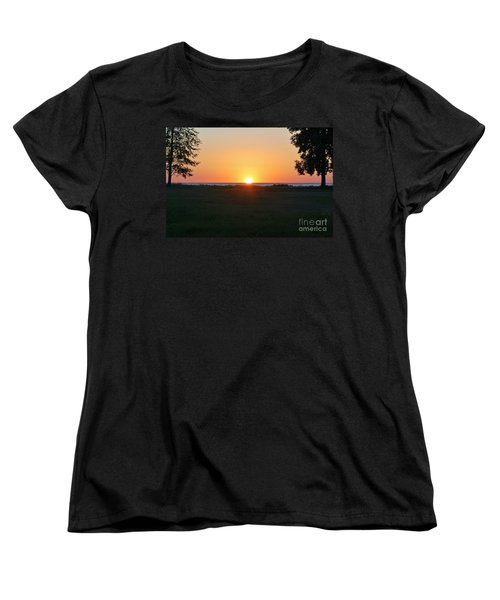 Women's T-Shirt (Standard Cut) featuring the photograph First Light by Patrick Shupert