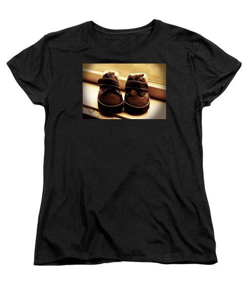 Women's T-Shirt (Standard Cut) featuring the photograph First Steps by Aaron Berg