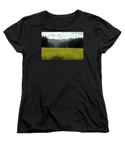 Fish Lake - Open Field Women's T-Shirt (Standard Cut) by Laddie Halupa