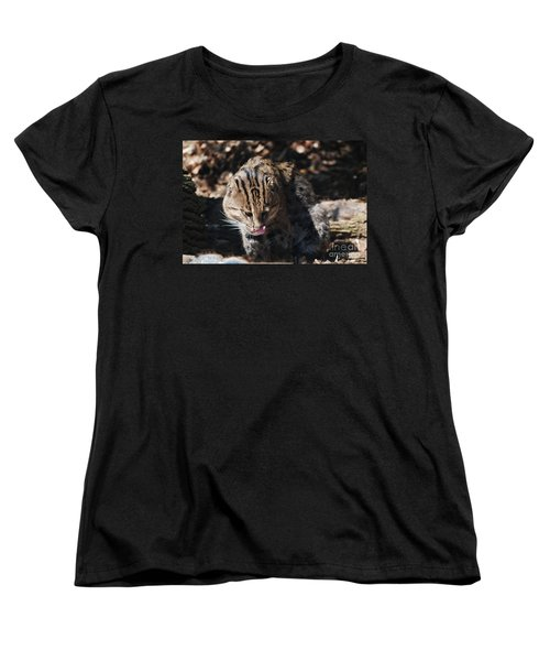 Fishing Cat Women's T-Shirt (Standard Cut) by DejaVu Designs