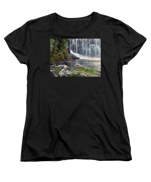 Women's T-Shirt (Standard Cut) featuring the photograph Fishing Hole by Deb Halloran