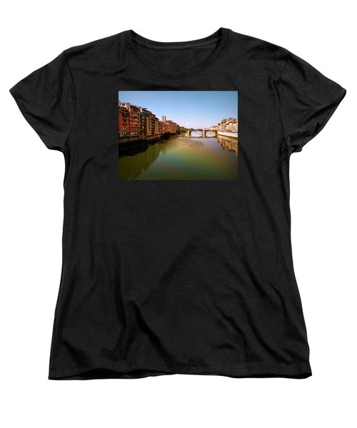 Women's T-Shirt (Standard Cut) featuring the photograph Fiume Di Sogni by Micki Findlay