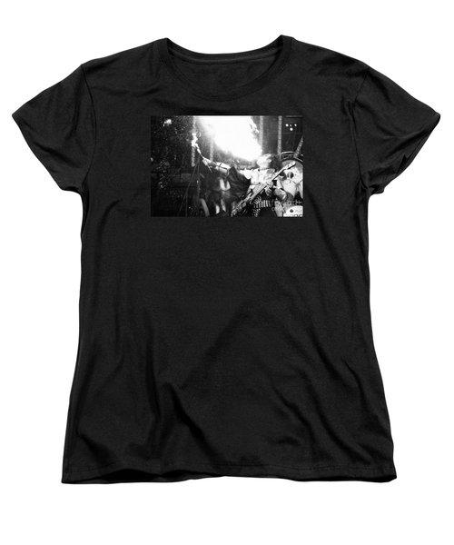 Women's T-Shirt (Standard Cut) featuring the photograph Flaming Gene by Steven Macanka