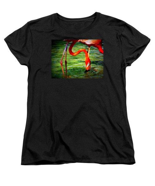 Women's T-Shirt (Standard Cut) featuring the photograph Flamingo by David Mckinney