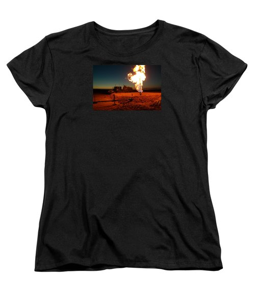 Flare And A Vacuum Truck Women's T-Shirt (Standard Cut) by Jeff Swan