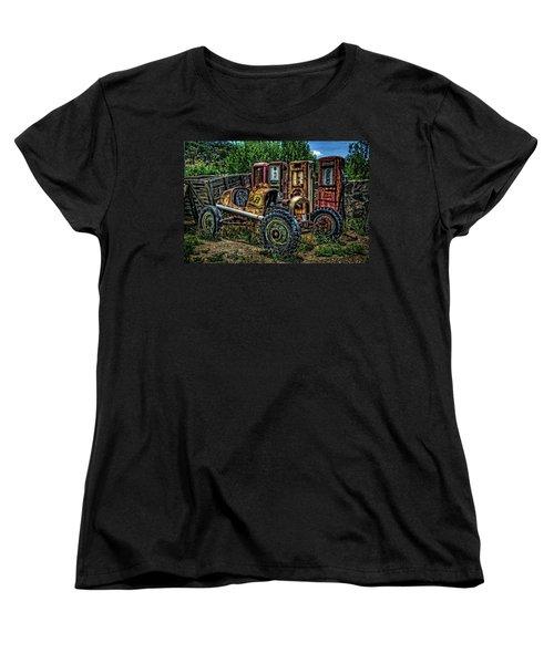Women's T-Shirt (Standard Cut) featuring the photograph Flathead Ford Racer by Ken Smith