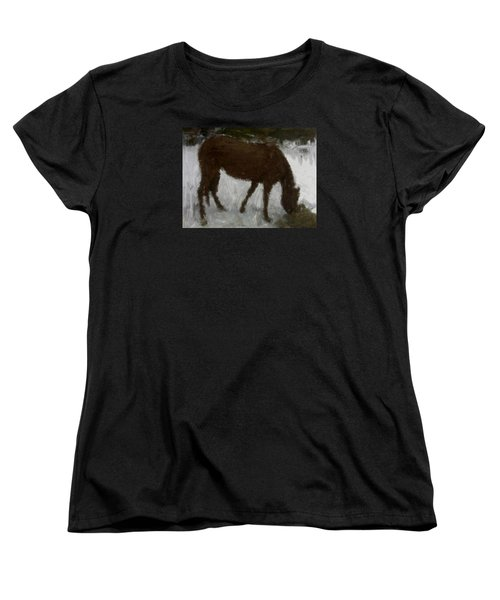 Women's T-Shirt (Standard Cut) featuring the painting Flicka by Bruce Nutting