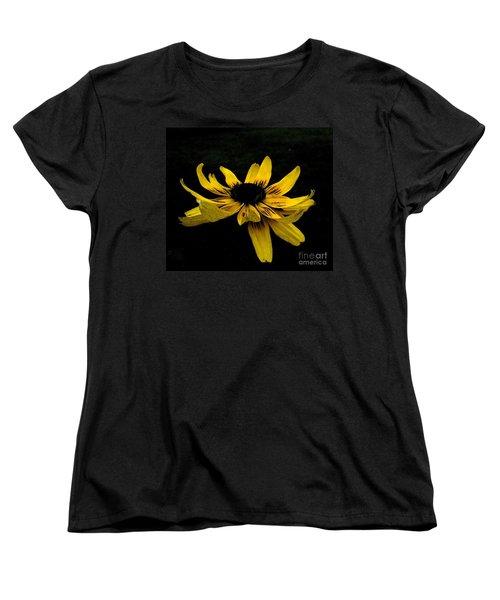 Women's T-Shirt (Standard Cut) featuring the photograph  Black Eyed Susan Suspense by Ecinja