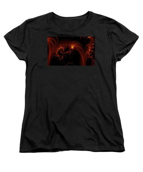 Floating Fire Fractal Women's T-Shirt (Standard Cut) by Fran Riley