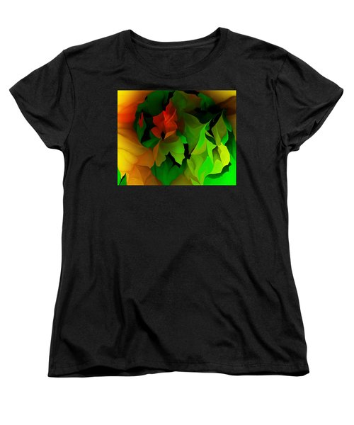 Women's T-Shirt (Standard Cut) featuring the digital art Floral Abstraction 090814 by David Lane