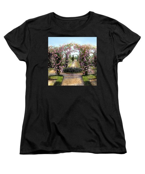 Floral Arch Women's T-Shirt (Standard Cut) by Terry Reynoldson