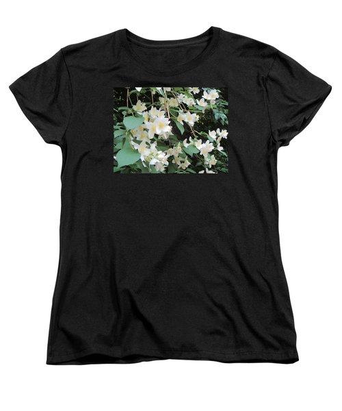 Women's T-Shirt (Standard Cut) featuring the photograph Floral Cascade by Pema Hou