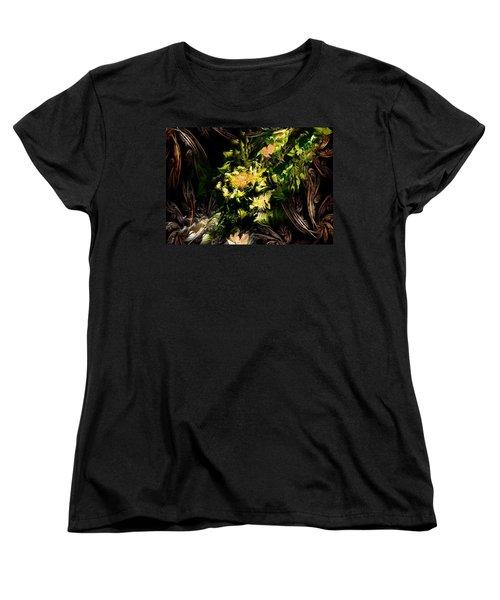 Women's T-Shirt (Standard Cut) featuring the digital art Floral Expression 020215 by David Lane