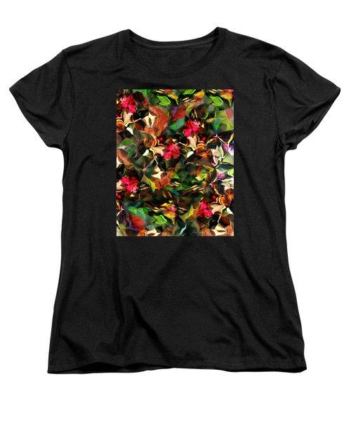 Women's T-Shirt (Standard Cut) featuring the digital art Floral Expression 121914 by David Lane