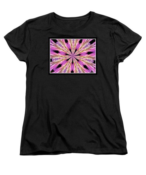Floral Kaleidoscope  Waterlily Women's T-Shirt (Standard Cut) by Rose Santuci-Sofranko