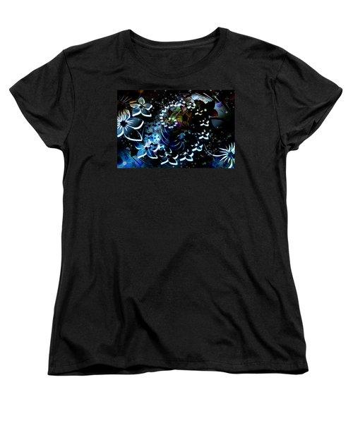 Floral Way Women's T-Shirt (Standard Cut) by Paula Ayers