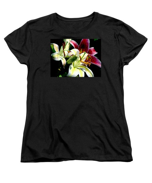 Women's T-Shirt (Standard Cut) featuring the photograph Florals In Contrast by Ira Shander