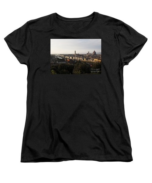 Florence Form The Piazza Michalengelo Women's T-Shirt (Standard Cut) by Belinda Greb