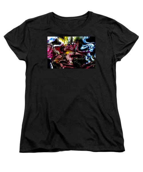 Women's T-Shirt (Standard Cut) featuring the digital art Flores' Darker More Uncomfortable Twin by Richard Thomas