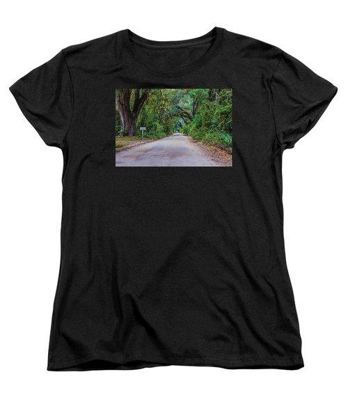 Florida Road Women's T-Shirt (Standard Cut) by Tom Culver