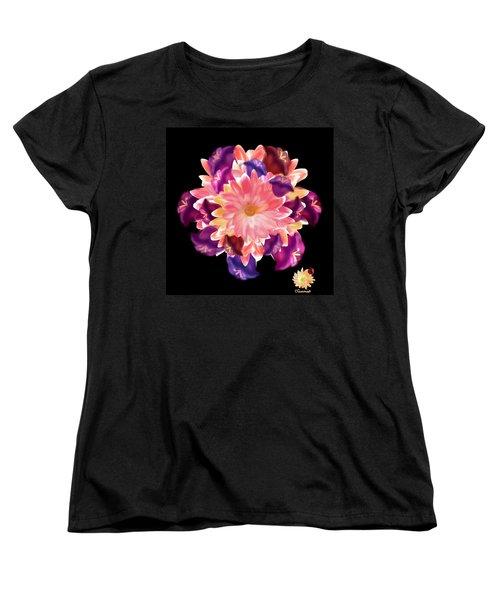 Flower Circle Women's T-Shirt (Standard Cut)