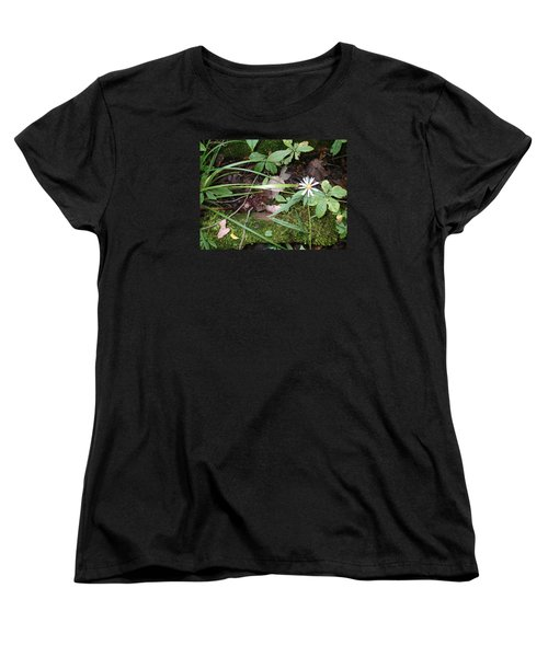Women's T-Shirt (Standard Cut) featuring the photograph Flower In The Woods by Robert Nickologianis