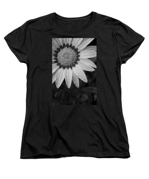 Flower Water Droplets Women's T-Shirt (Standard Cut) by Ron White