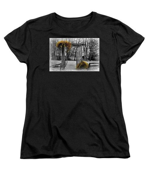 Women's T-Shirt (Standard Cut) featuring the photograph Flowering Archway by Tara Potts