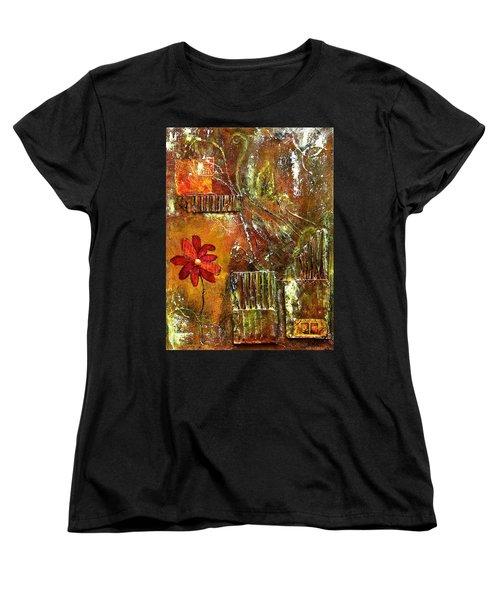 Flowers Grow Anywhere Women's T-Shirt (Standard Cut) by Bellesouth Studio