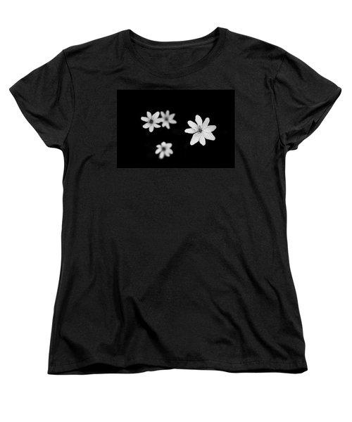 Flowers In Black Women's T-Shirt (Standard Cut) by Shane Holsclaw