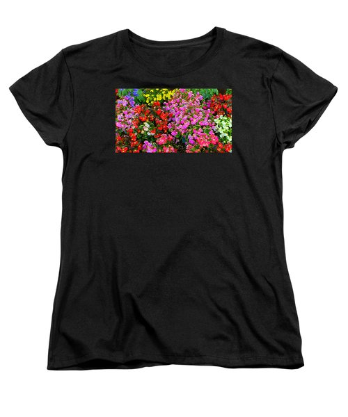 Flwrs Test 1 Women's T-Shirt (Standard Cut) by Terence Morrissey