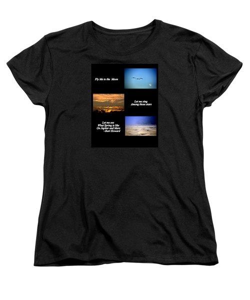 Fly Me To The Moon Women's T-Shirt (Standard Cut)