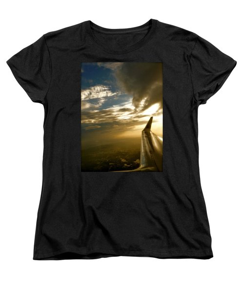 Women's T-Shirt (Standard Cut) featuring the photograph Flying Clouds By David Pucciarelli by Iconic Images Art Gallery David Pucciarelli