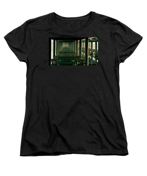 Foggy Morning Under Bridge Women's T-Shirt (Standard Cut) by Robert Frederick