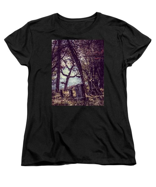 Women's T-Shirt (Standard Cut) featuring the photograph Foggy Memories by Melanie Lankford Photography