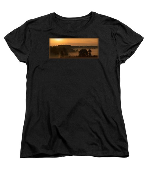 Foggy Morning At Valley Forge Women's T-Shirt (Standard Cut) by Michael Porchik