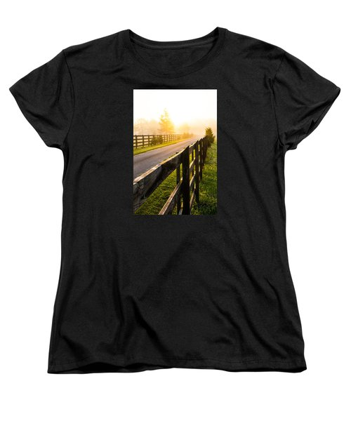 Foggy Morning Women's T-Shirt (Standard Cut) by Shelby  Young