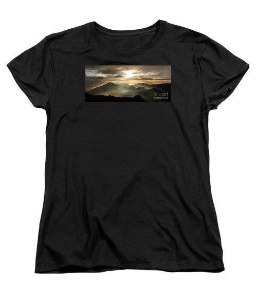 Foggy Sunrise Over Haleakala Crater On Maui Island In Hawaii Women's T-Shirt (Standard Cut)