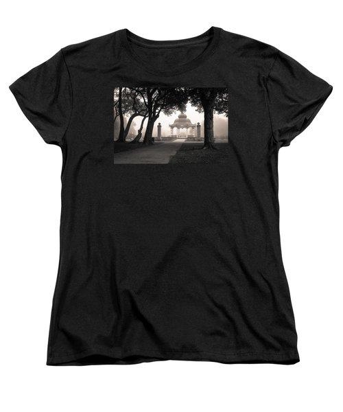 Foggy Tower Grove Women's T-Shirt (Standard Cut) by Scott Rackers