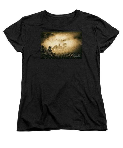 Women's T-Shirt (Standard Cut) featuring the photograph Foggy Tuscany by Silvia Ganora