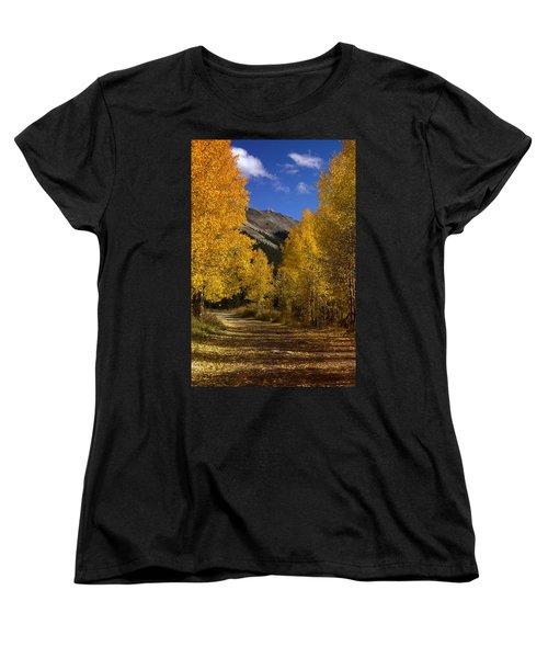 Women's T-Shirt (Standard Cut) featuring the photograph Follow The Gold by Ellen Heaverlo