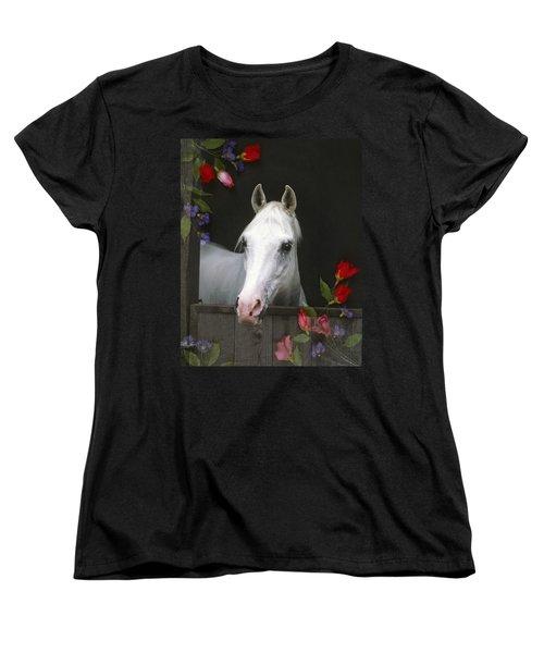 For The Roses Women's T-Shirt (Standard Cut) by Melinda Hughes-Berland